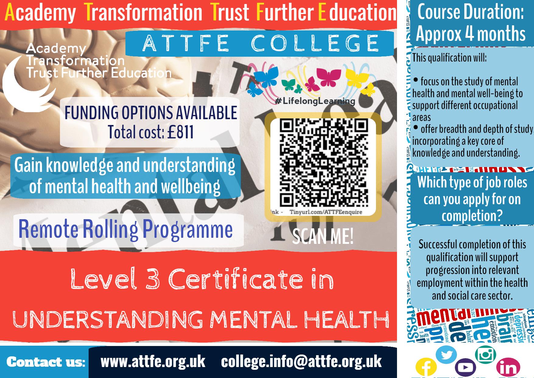 Level 3 Certificate in Understanding Mental Health Info